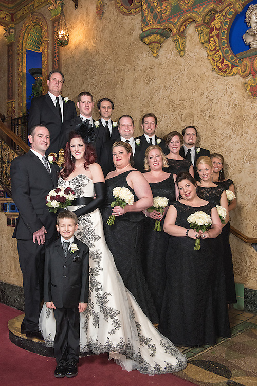 The Valentine's Day wedding of Melanie McClish and Michael McDermott Saturday, Feb. 14, 2015 at The Palace in Louisville, Ky. (Photo by Brian Bohannon)