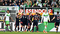 Fotball<br /> Tyskland<br /> 27.02.2016<br /> Foto: Witters/Digitalsport<br /> NORWAY ONLY<br /> <br /> 0:2 Jubel v.l. Juan Bernat, Torschuetze Robert Lewandowski, Franck Ribery, Philipp Lahm, Thomas Mueller, Joshua Kimmich, Kingsley Coman (Bayern)<br /> <br /> Wolfsburg, 27.02.2016, Fussball Bundesliga, VfL Wolfsburg - FC Bayern München