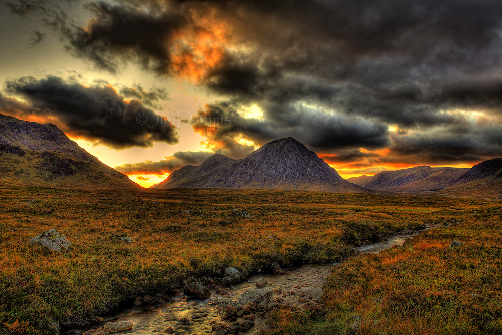 Taken from the eastern end of Glen Coe as the sun was setting.
