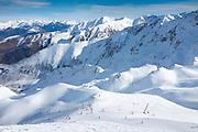 Peyragudes ski resort, Midi-Pyrenees, France.