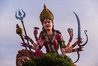 140 foot tall Maa Vaishno Devi statue, near Vrindavan, Uttar Pradesh, India.