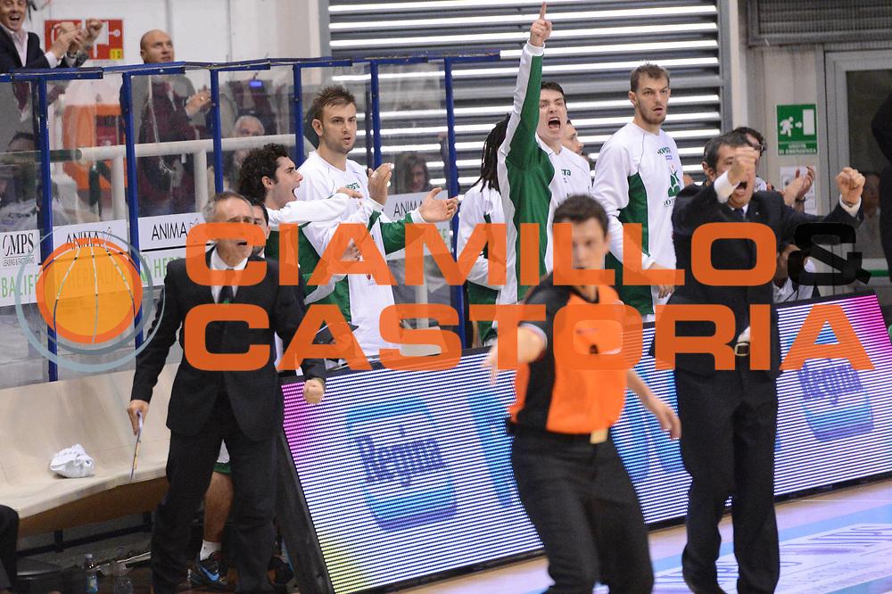 DESCRIZIONE : Siena Lega A 2012-13 Montepaschi Siena EA7 Emporio Armani Milano<br /> GIOCATORE : team<br /> CATEGORIA : esultanza<br /> SQUADRA : Montepaschi Siena<br /> EVENTO : Campionato Lega A 2012-2013 <br /> GARA : Montepaschi Siena EA7 Emporio Armani Milano<br /> DATA : 05/11/2012<br /> SPORT : Pallacanestro <br /> AUTORE : Agenzia Ciamillo-Castoria/GiulioCiamillo<br /> Galleria : Lega Basket A 2012-2013  <br /> Fotonotizia :  Siena Lega A 2012-13 Montepaschi Siena EA7 Emporio Armani Milano<br /> Predefinita :