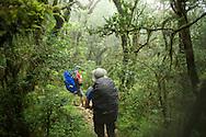 Hiking towards Songluo Hu.