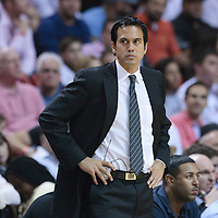 17 November 2010: Miami Heat head coach Erik Spoelstra is seen during the Miami Heat 123-96 victory over the Phoenix Suns at the AmericanAirlines Arena, Miami, Florida, USA.