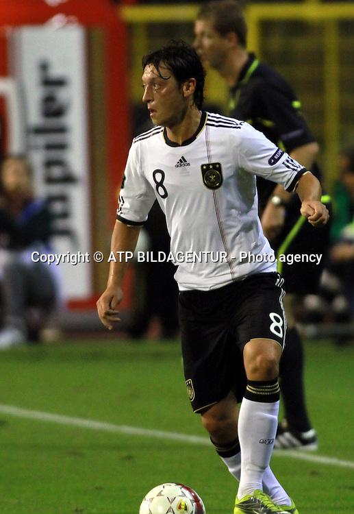 Mesut &Ouml;ZIL, OEZIL <br /> Fussball  2010 - Football UEFA Euro Qualification, BELGIEN - DEUTSCHLAND - BELGIUM - GERMANY - Belgique - Allemagne  -03.09.2010. - fee liable image, Foto: &copy; ATP  Arthur THILL