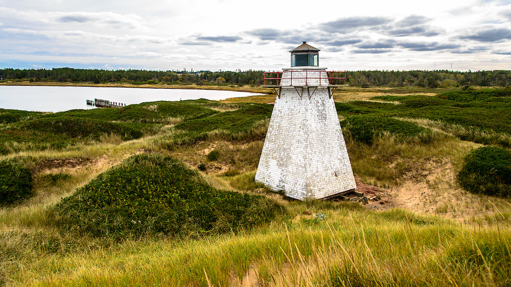 Lighthouse in St. Peters Prince Edward Island.