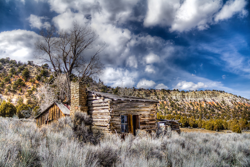 "An abandoned log home on an abandoned ranch in southern Utah. ""Once Upon A Home"""