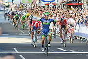 Caleb Ewan (AUS) of Orica BikeExchange celebrates winning the Tour of Britain 2016 stage 8 , London, United Kingdom on 11 September 2016. Photo by Mark Davies.