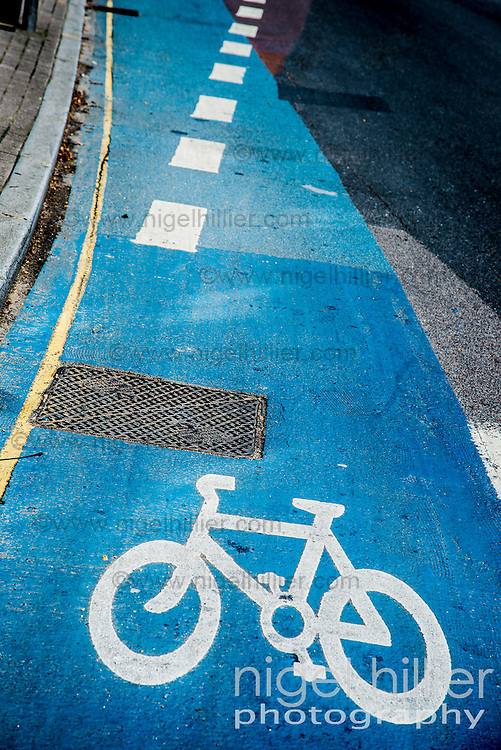 Cycle lane, London