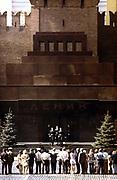 Changing of the guard at the Lenin mausoleum, Red Square, Moscow, c1980. Vladimir Ilyich Lenin (1917-1924) Russian Bolshevik leader. Communist Soviet USSR