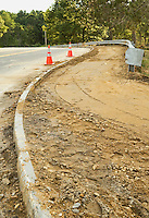 Construction on the final phase of sidewalk winds up Alvah Wilson Road in Gilford.  (Karen Bobotas/for the Laconia Daily Sun)