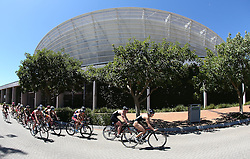 The chasing pack during the Elite Women race of the Discovery Triathlon World Cup Cape Town leg held at Green Point in Cape Town, South Africa on the 11th February 2017.<br /> <br /> Photo by Shaun Roy/RealTime Images