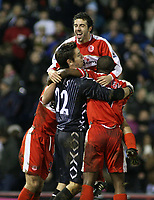 Photo: Mark Stephenson.<br /> West Bromwich Albion v Middlesbrough. The FA Cup. 27/02/2007.Middlesbrough celebrate there win