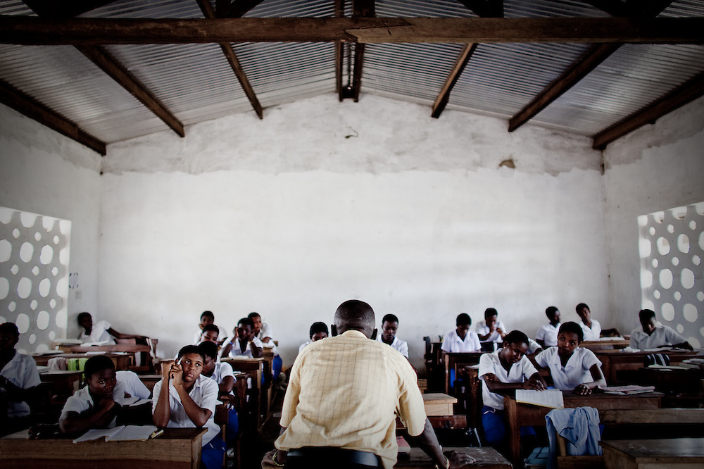 Religious Studies class at an all-girls school run by FAWE in Obodan, Ghana.