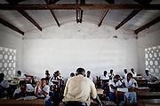 Religious Studies class at an all-girls school run by FAWE in Obodan, Ghana.