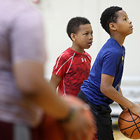 Christopher Atterberry, 11, keeps his on on the goal as he practices free throws during Basketball Camp at the Tupelo Police Athletic League on Thursday morning. The camp, which ends Friday, focuses on the fundamentals of the game and was led by Jason Smith and Milton Moore. The age group for this weeks camp was 10-14. A camp will be held next month, July 9-13, for ages 14 and up at no charge on a first come first serve basis until all 40 spots are filled.