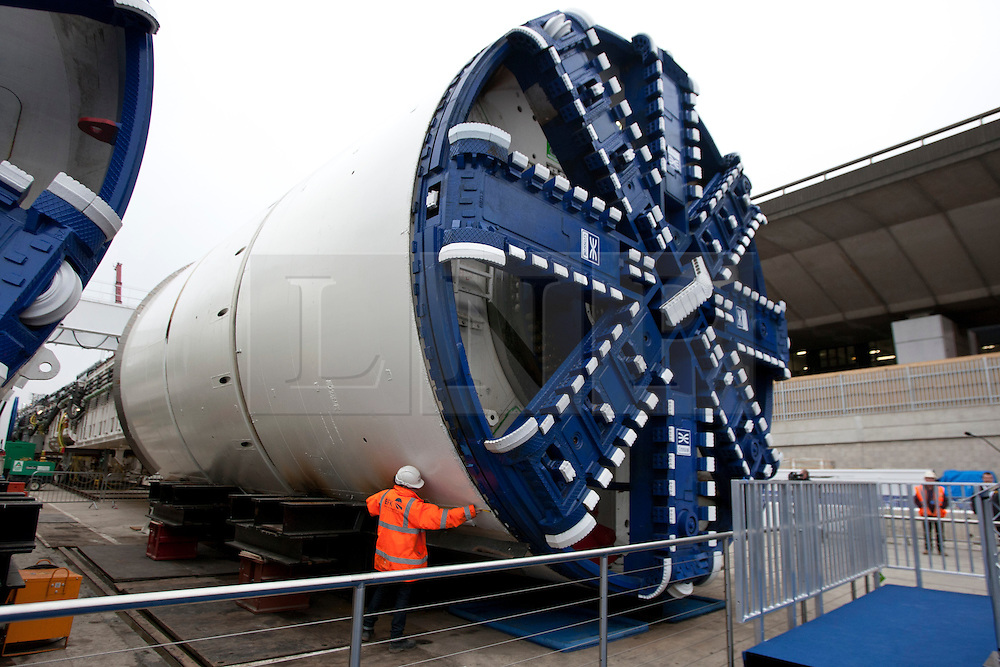 © licensed to London News Pictures. London, UK 13/03/2012. Crossrail tunnel boring machine is pictured in Westbourne Park this morning. Photo credit: Tolga Akmen/LNP