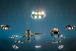 Daniel Goodfellow and Tom Daley of Great Britain warm up for the Mens 10m Platform Synchro Final - Mandatory byline: Rogan Thomson/JMP - 12/05/2016 - DIVING - London Aquatics Centre - Stratford, London, England - LEN European Aquatics Championships 2016 Day 4.