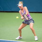 August 19, 2016, New Haven, Connecticut: <br /> Alison Riske of the United States in action during a qualifying match on Day 1 of the 2016 Connecticut Open at the Yale University Tennis Center on Friday, August 19, 2016 in New Haven, Connecticut. <br /> (Photo by Billie Weiss/Connecticut Open)