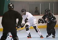 Hockey game with Charlee's team in orange at Peoria Sportsplex on February 18, 2018.