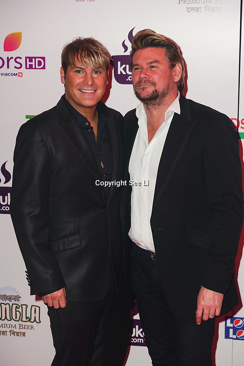 Battersea Evolution London, England, UK, 27th November 2017. Gary Cockerill, Phil Turner attend the British Curry Awards, London, UK.