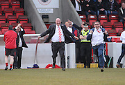 Argyle management celebrate at the final whistle - Dundee Argyle win the Scottish Sunday Trophy beating Bullfrog in the final at Forthbank, Stirling<br /> <br />  <br />  - © David Young - www.davidyoungphoto.co.uk - email: davidyoungphoto@gmail.com