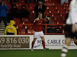 Matthew Mills of Nottingham Forest celebrates scoring his sides third goal - Mandatory byline: Jack Phillips / JMP - 07966386802 - 5/12/2015 - FOOTBALL - The City Ground - Nottingham, Nottinghamshire - Nottingham Forest v Fulham - Sky Bet Championship