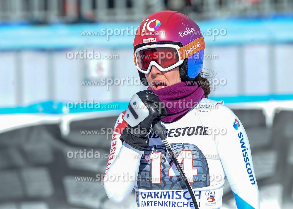 06.03.2015, Kandahar, Garmisch Partenkirchen, GER, FIS Weltcup Ski Alpin, Abfahrt, Damen, 1. Trainingslauf, im Bild Dominique Gisin (SUI) // Dominique Gisin of Switzerland during 1st training run for the ladie's Downhill of the FIS Ski Alpine World Cup at the Kandahar course, Garmisch Partenkirchen, Germany on 2015/03/06. EXPA Pictures © 2015, PhotoCredit: EXPA/ Erich Spiess