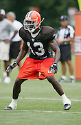 BEREA, OH - AUGUST 3:  Rookie free agent defensive back Jereme Perry #13 of the Cleveland Browns makes a move during training camp at the Cleveland Browns Training and Administrative Complex on August 3, 2006 in Berea, Ohio. ©Paul Anthony Spinelli *** Local Caption *** Jereme Perry