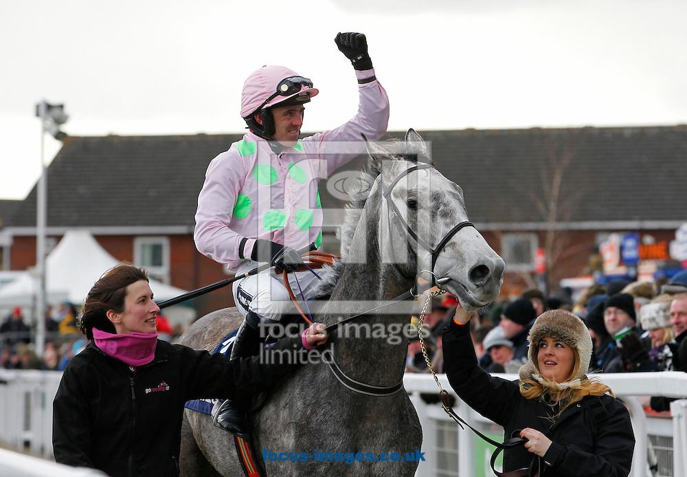 Picture by John Hoy/Focus Images Ltd +44 7583 422396.12/03/2013.Ruby Walsh riding Champayne Fever winning the 1st race of the Cheltenham Festival at Cheltenham Racecourse, Cheltenham.