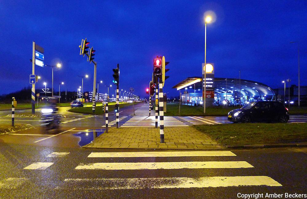 Nederland, Amsterdam, 9 januari 2013.Tankstation Kriterion aan de IJburglaan in Amsterdam..Gasstation Kriterion in Amsterdam. Foto: Amber Beckers