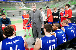 Damjan Novakovic, head coach of Sentjur during basketball match between KK Union Olimpija and KK Sentjur in 4th Round of Telemach League for Slovenian National Champion 2011/12, on April 4, 2012, in Arena Stozice, Ljubljana, Slovenia. (Photo by Vid Ponikvar / Sportida.com)