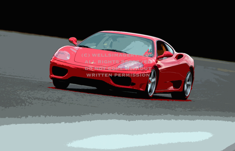 Image of a red Ferrari 360 coupe at the track, ProFormance, 8-17-11, Pacific Raceways, Don Kitch, Proformance, Racing School, High Performance, Lapping Day, Auburn, Washington, Pacific Northwest