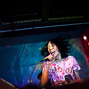 November 16, 2012 - New York, NY : The Japanese DJ and vocalist Oorutaichi performs at the Japan Society in Manhattan on Friday night.   CREDIT: Karsten Moran for The New York Times