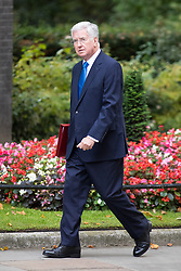 © Licensed to London News Pictures. 21/09/2017. London, UK. Defence Secretary Sir Michael Fallon arriving in Downing Street to attend a Cabinet meeting this morning. Photo credit : Tom Nicholson/LNP