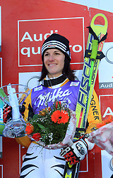 Third placed after second run Kathrin Hoelzl of Germany at Maribor women giant slalom race of Audi FIS Ski World Cup 2008-09, in Maribor, Slovenia, on January 10, 2009. (Photo by Vid Ponikvar / Sportida)