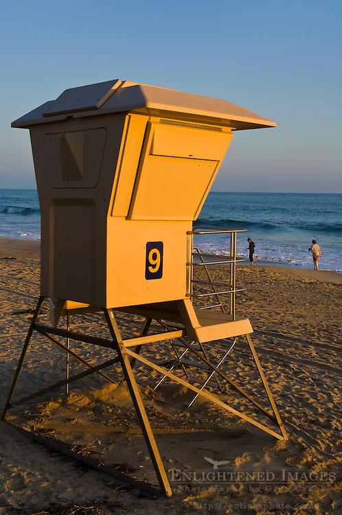 Lifeguard tower at Crystal Cove State Park Historic District, Corona del Mar, Newport Beach, California