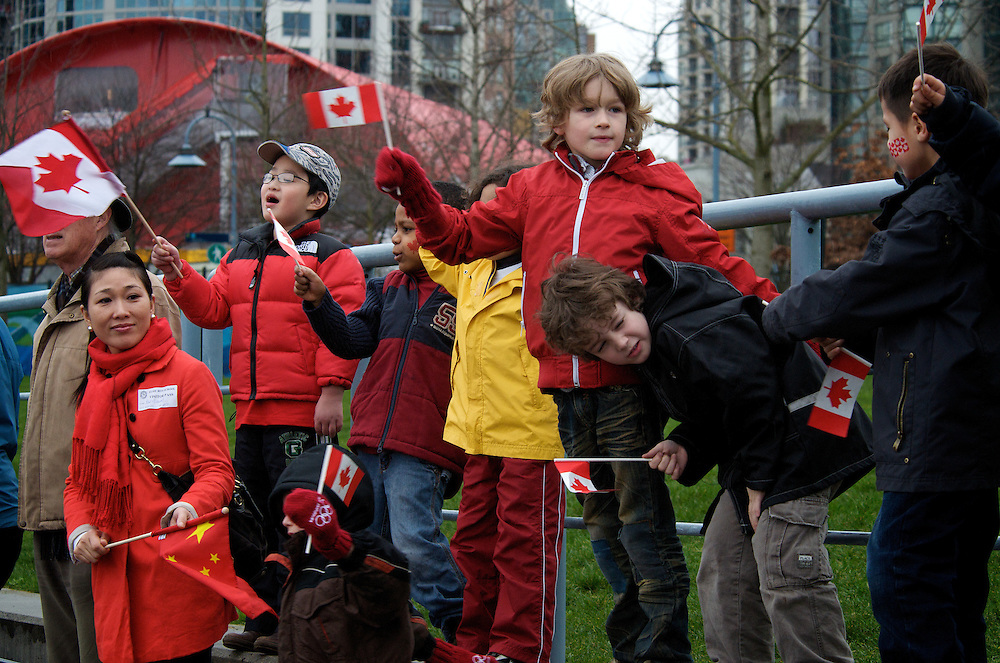 The olympic torch arrives for the Vancouver 2010 Winter Olympics!