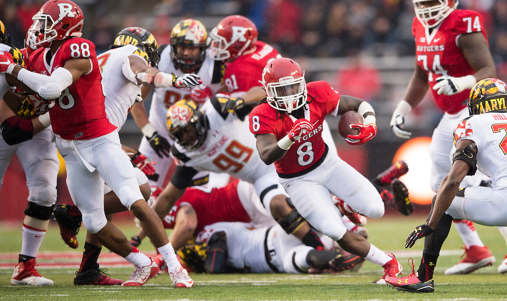 The Rutgers Scarlet Knights take on the Maryland Terrapins at High Point Solutions Stadium on Saturday afternoon, November 28, 2015.<br /> (Ben Solomon/Rutgers Athletics)