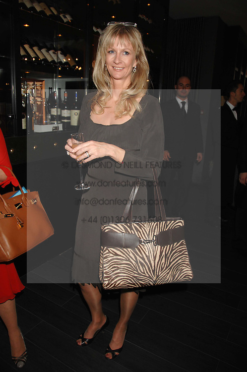 VISCOUNTESS DANGHAM at a lunch in aid of Chickenshed showcasing Ben de Lisi's Spring Summer and Autumn 2007 Collections held at the Baglioni Hotel, 60 Hyde Park gate, London SW7 on 24th April 2007.<br />