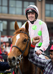 Repro Free: Punchestown 03/05/2014 Ruby Walsh brings Annie Power back into the parade ring at the last day of the Punchestown Racing Festival as he takes home another winner to take the title of Leading Rider of the Festival. Picture Andres Poveda