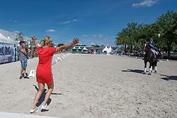 Fry Charlotte, GBR, Glamourdale, Van Olst Anne<br /> World ChampionshipsYoung Dressage Horses<br /> Ermelo 2018<br /> © Hippo Foto - Dirk Caremans<br /> 05/08/2018