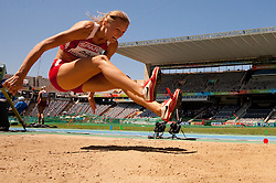 Lauma Griva of Latvia competes in the Womens Long Jump Qualifying during day one of the 20th European Athletics Championships at the Olympic Stadium on July 27, 2010 in Barcelona, Spain. (Photo by Vid Ponikvar / Sportida)