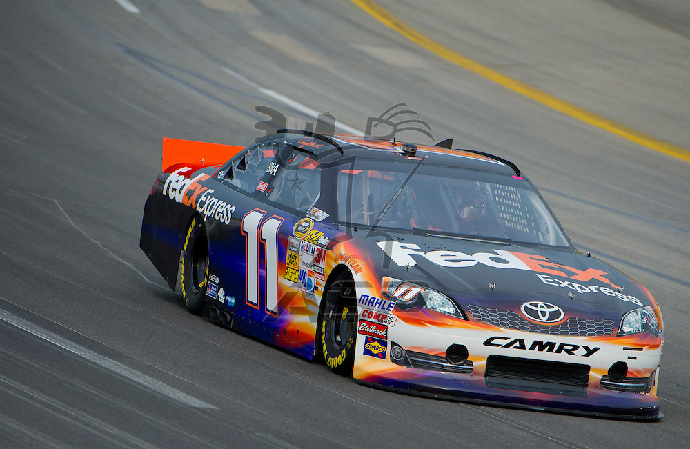 Sparta, KY - JUN 29, 2012: Denny Hamlin (11) during qualifying for the Quaker State 400 at Kentucky Speedway in Sparta, KY.