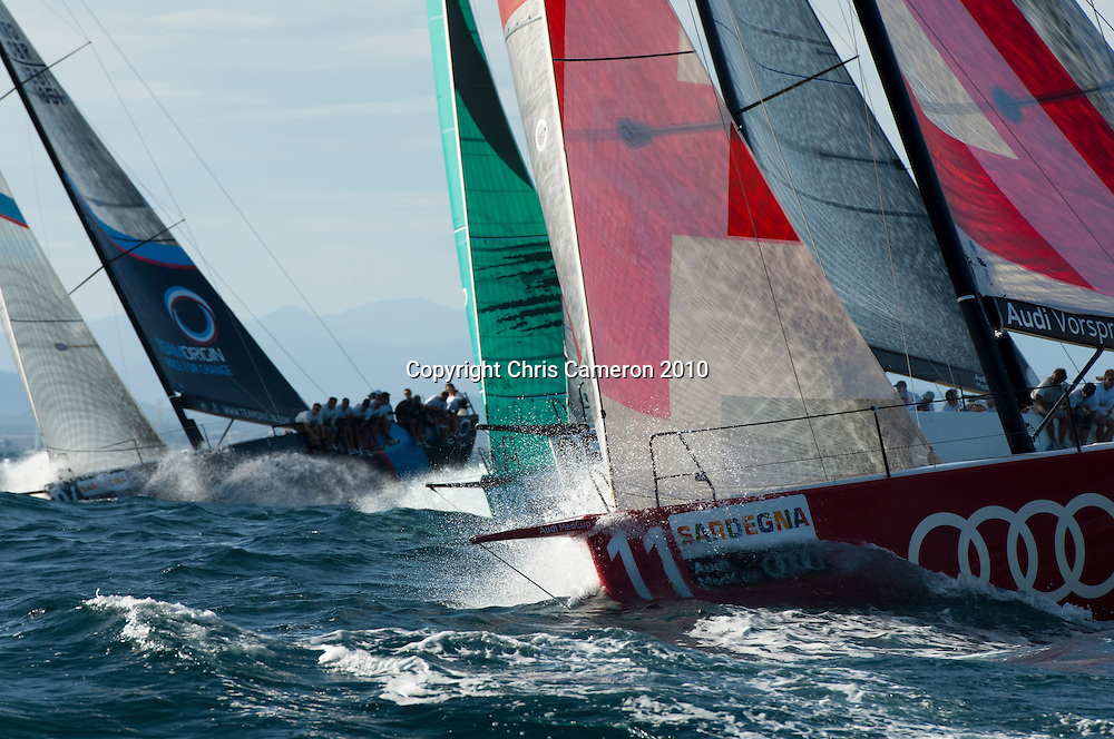 Race three on Day one of the Trophy of Sardinia, Audi MedCup 2010. 21/9/2010