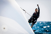 © BernardíBIBILONI / www.bernardibibiloni.com <br /> ACO 8th MUSTO Skiff World Championship 2017, Club Nàutic S'Arenal (Bahía de Palma, Spain). <br /> From 27th may to 3rd june 2017. All rights reserved.