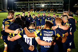 Worcester Cavaliers huddle at the end of the game after defeat to Wasps A - Mandatory by-line: Robbie Stephenson/JMP - 03/04/2017 - RUGBY - Sixways Stadium - Worcester, England - Worcester Cavaliers v Wasps A - Aviva A League