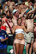 Twickenham, London - Sunday 23rd May 2010: Spectators enjoying themselves in extremely warm and sunny conditions during the Emirates London Sevens rugby tournament at Twickenham Stadium, London, UK. (Pic by Andrew Tobin/Focus Images)