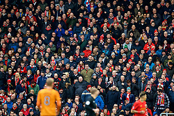 LIVERPOOL, ENGLAND - Saturday, January 28, 2017: Liverpool supporters on the Spion Kop during the FA Cup 4th Round match against Wolverhampton Wanderers at Anfield. (Pic by David Rawcliffe/Propaganda)