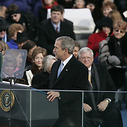 President Bush speaks after being sworn-in at the US Capitol in Washington, Jan. 20, 2005. ..Photo by Khue Bui